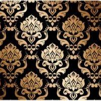 Black Gold Paisley
